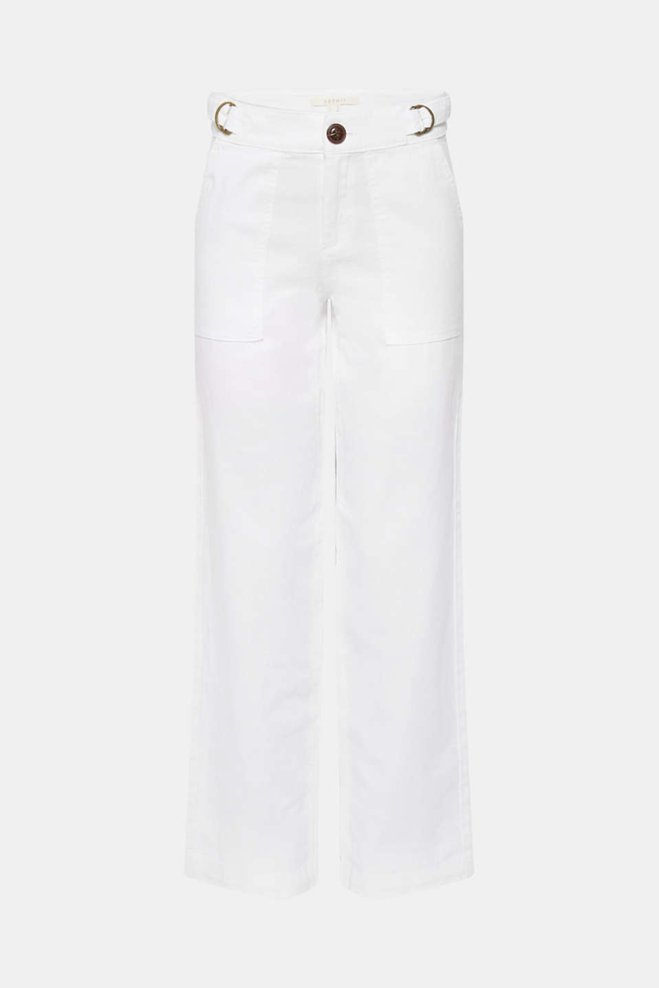 Pants woven, WHITE, detail image number 8