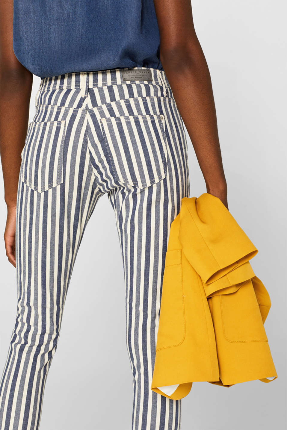 Stretch jeans with stripes and organic cotton