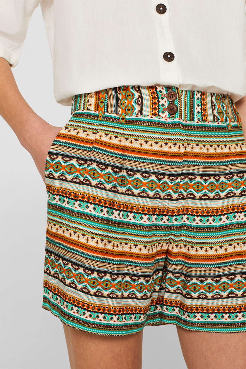 Shorts woven, CINNAMON, detail image number 2