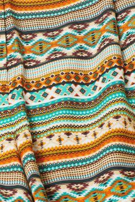 Floaty ethnic print shorts