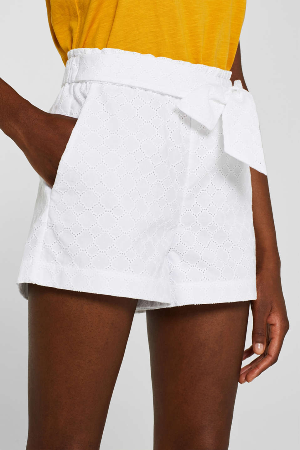 Shorts woven, OFF WHITE, detail image number 2