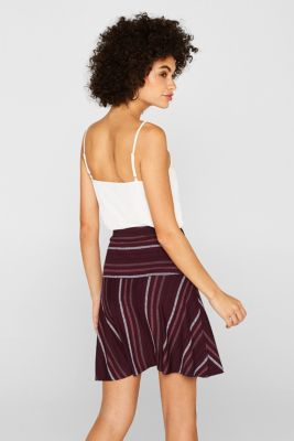 bae4bd57cb39 Esprit - Klockad kjol i stretchjersey med mönster i Esprits Online-Shop