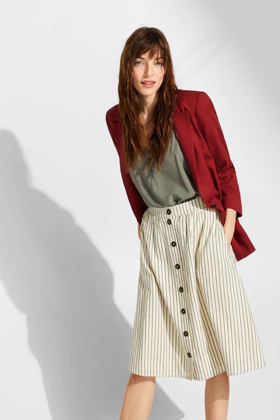 Linen blend: A-line skirt