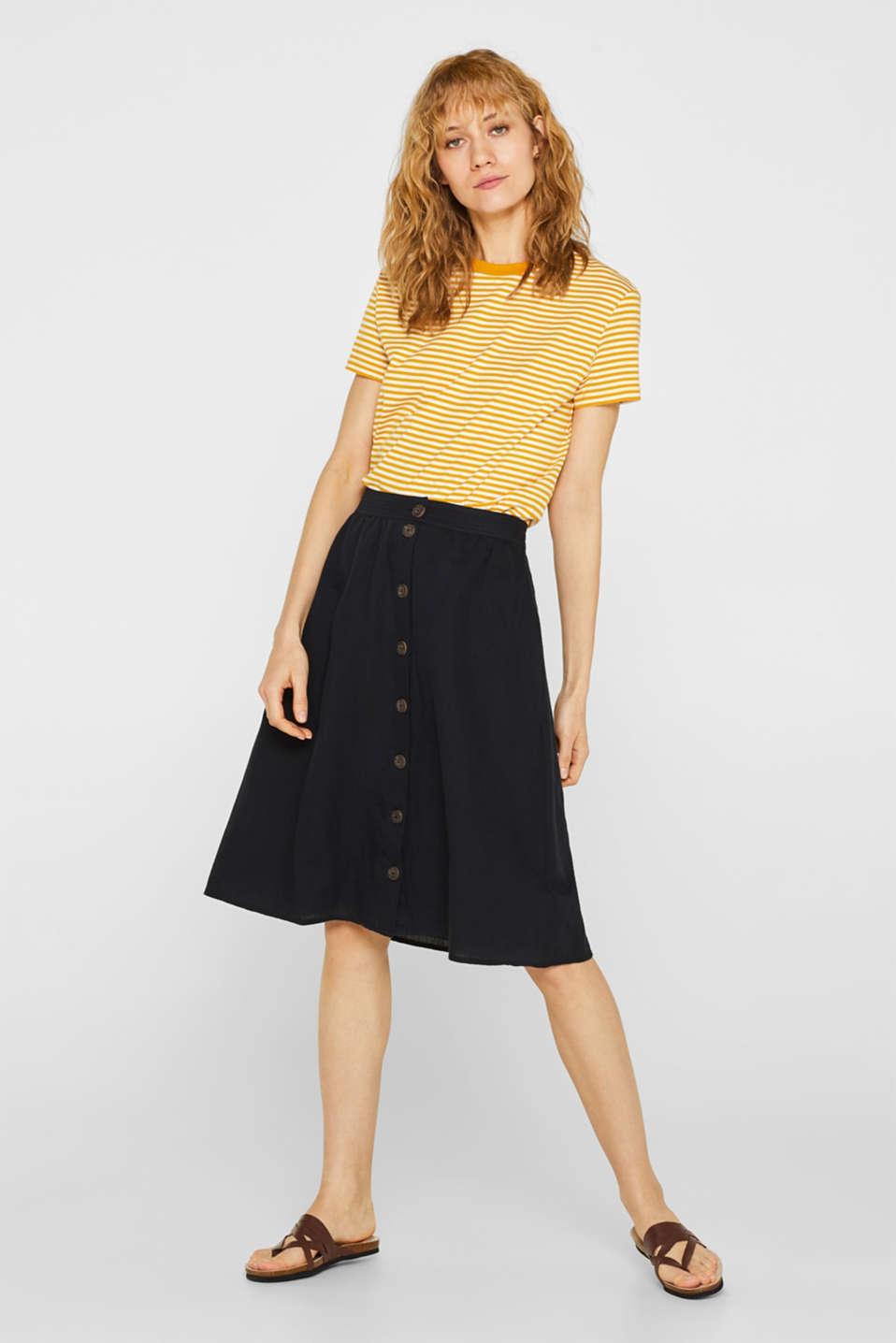 Skirts light woven, BLACK, detail image number 0