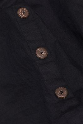 A-line skirt with linen and a button placket