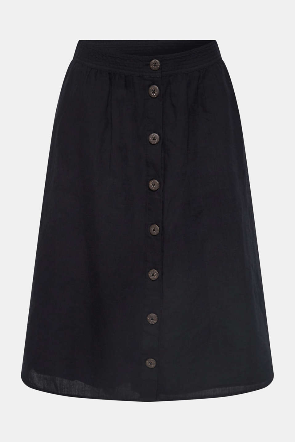 Skirts light woven, BLACK, detail image number 7