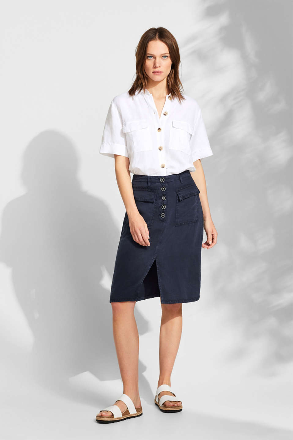 Skirts light woven, NAVY, detail image number 0