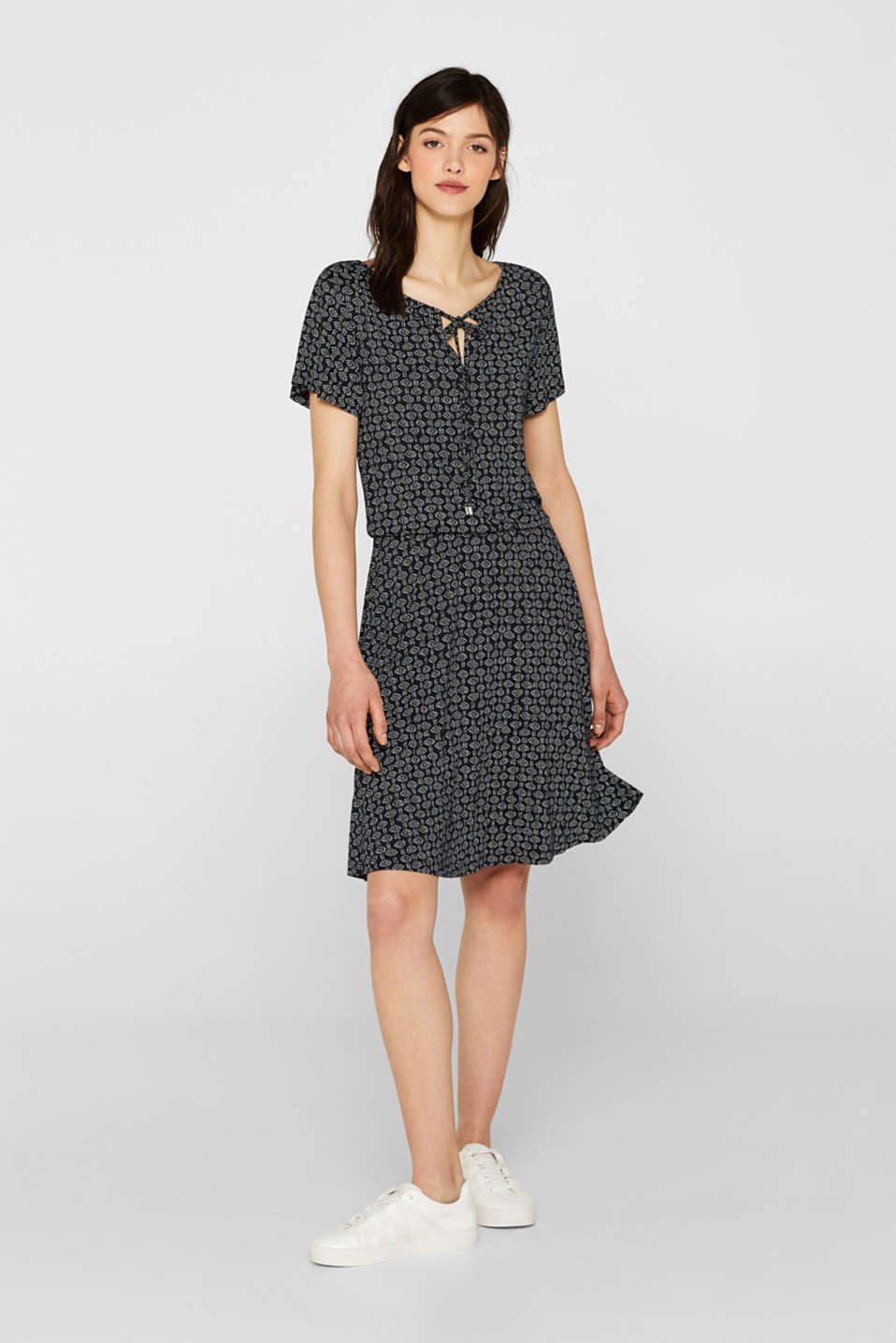 Esprit - Jersey dress with an all-over print