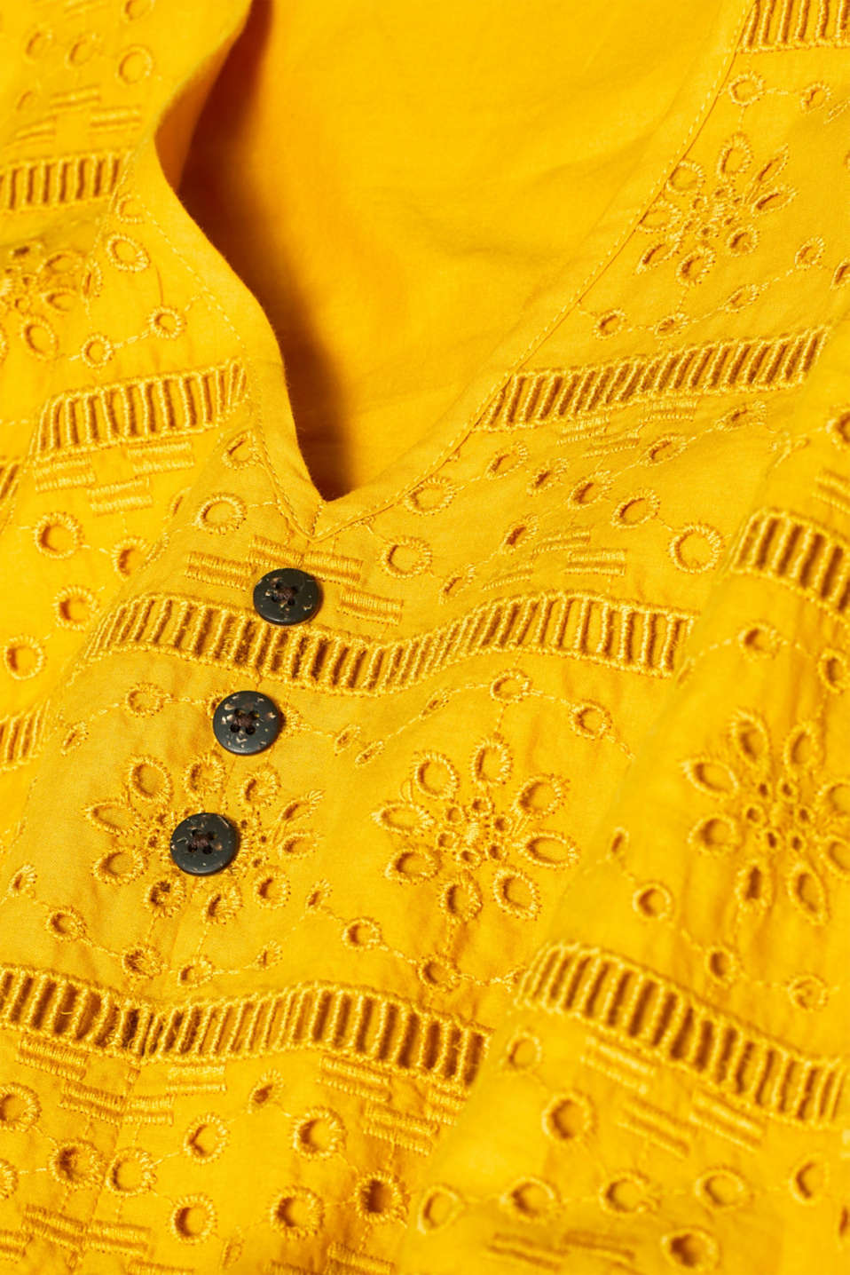 Dresses light woven, BRASS YELLOW, detail image number 5
