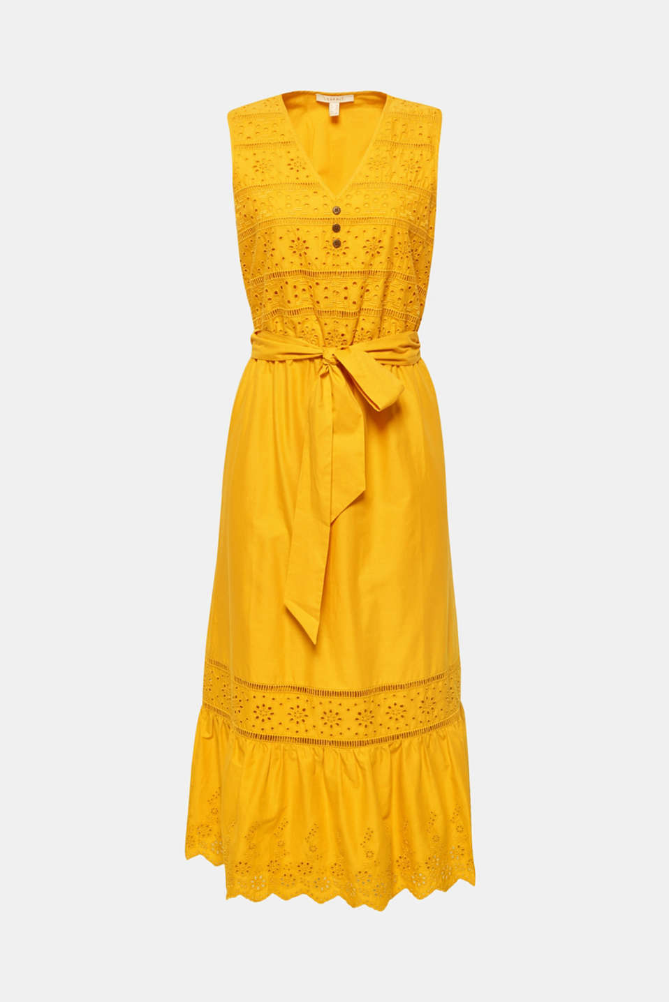 Dresses light woven, BRASS YELLOW, detail image number 6