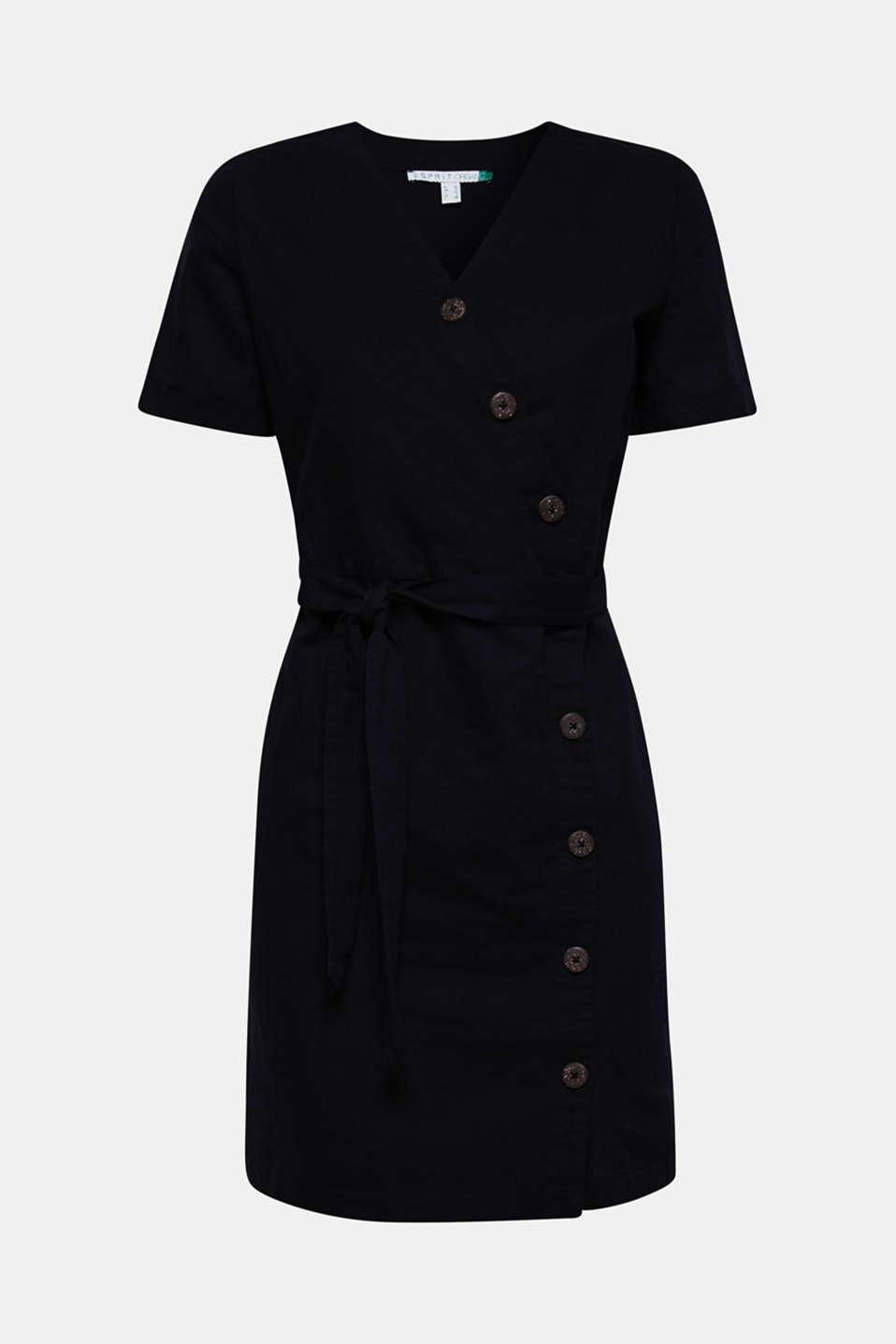 Dresses light woven, BLACK, detail image number 6