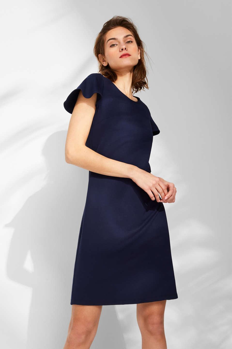 4df3eee7a37 Esprit - Smal kjole i jersey/stretch med vingeærmer i Esprits Online ...