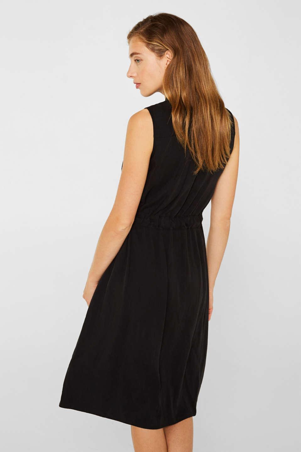 Linen blend: Utility-style midi dress, BLACK, detail image number 2