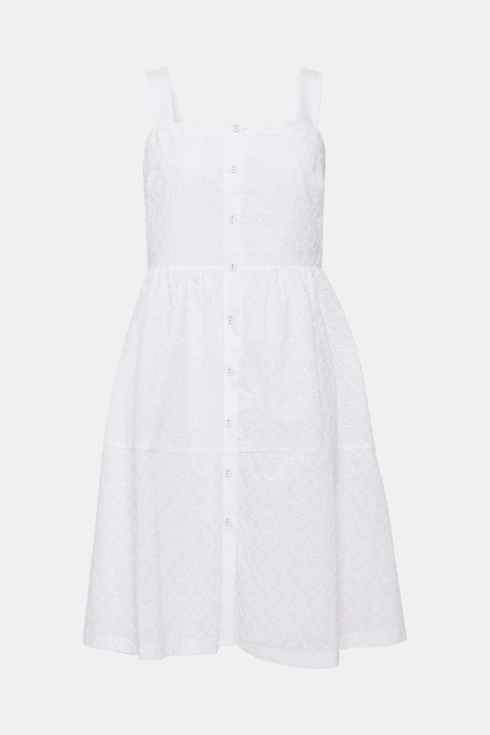 Dresses light woven, OFF WHITE, detail image number 7