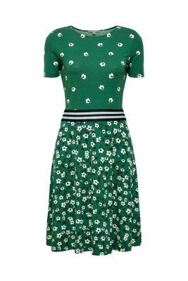 6dcc944b7271 Žerzejové strečové šaty s potiskem a lemem v pase1.499