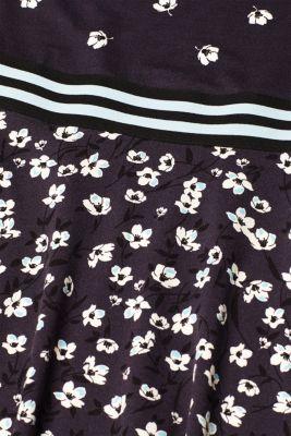 Stretch jersey dress with a print and waist trim