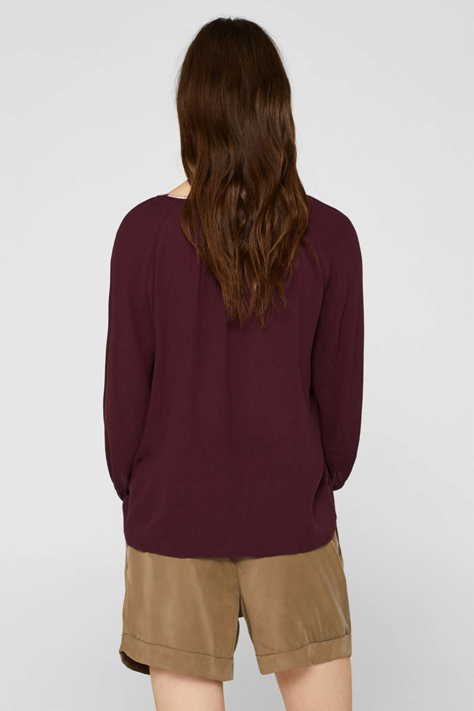 Blouses woven, BORDEAUX RED, detail image number 3