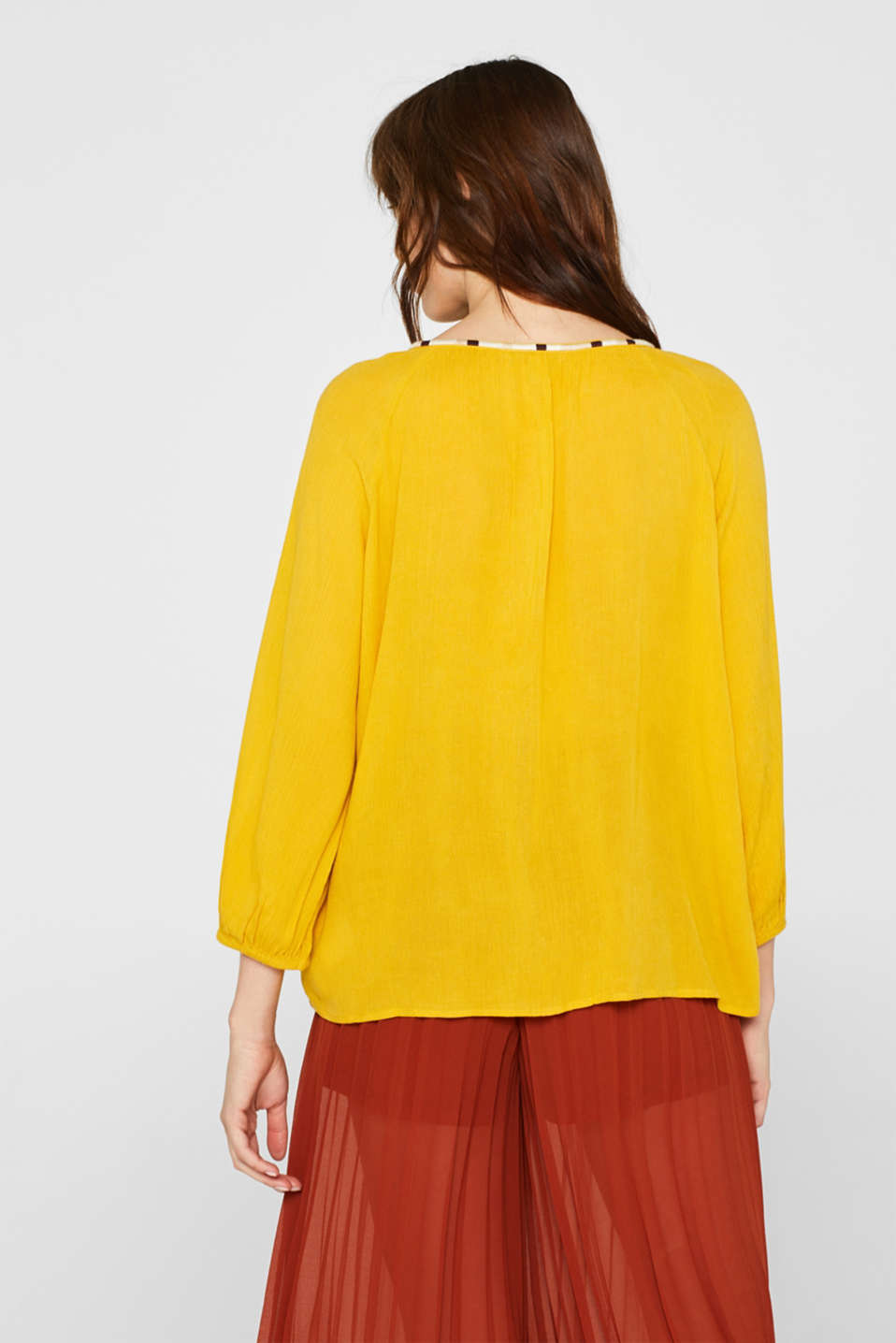 Blouses woven, BRASS YELLOW, detail image number 3