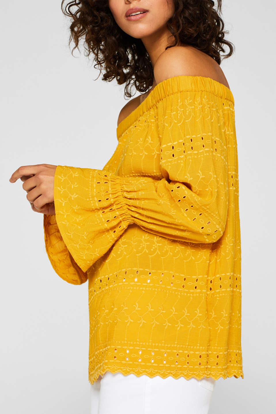 Blouses woven, BRASS YELLOW, detail image number 2