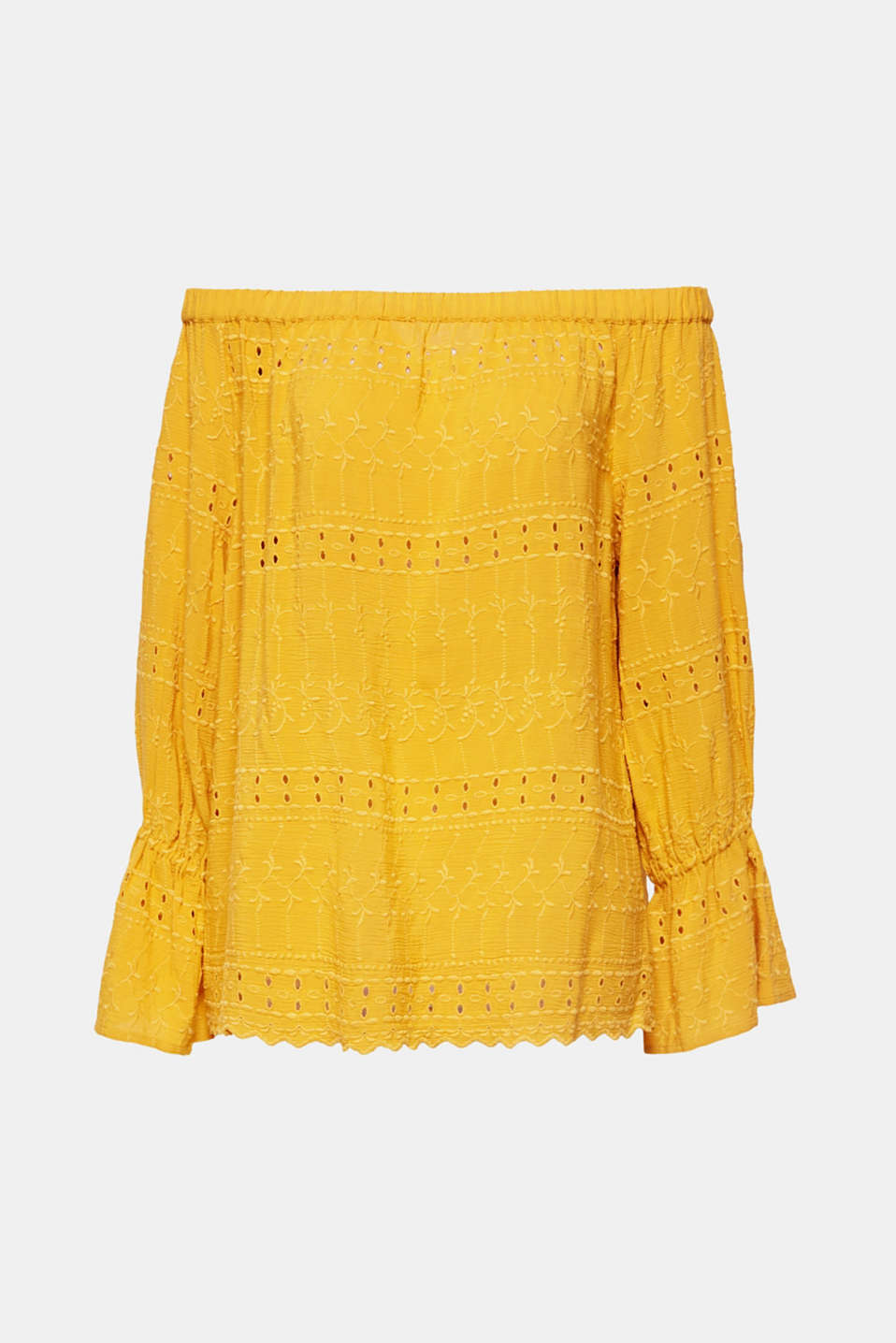 Blouses woven, BRASS YELLOW, detail image number 7