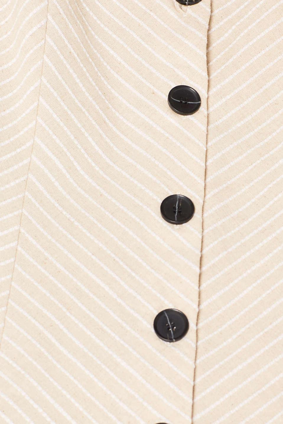 Blouses woven, LIGHT BEIGE, detail image number 4