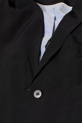 Blazer with jersey sleeve cuffs