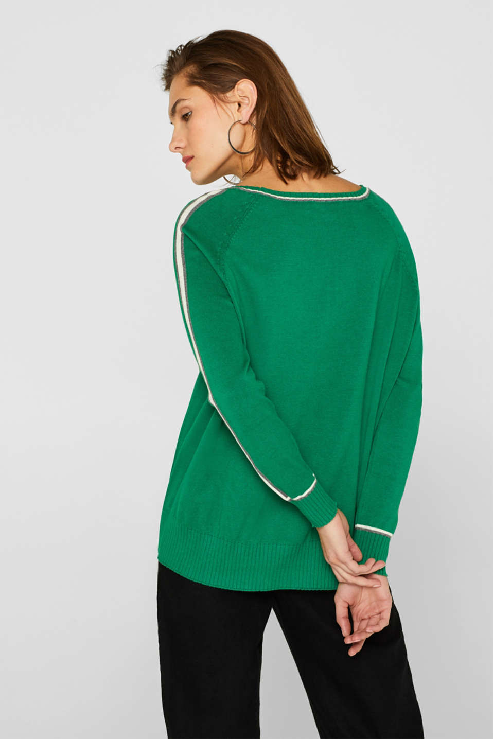 Sweaters, GREEN, detail image number 3