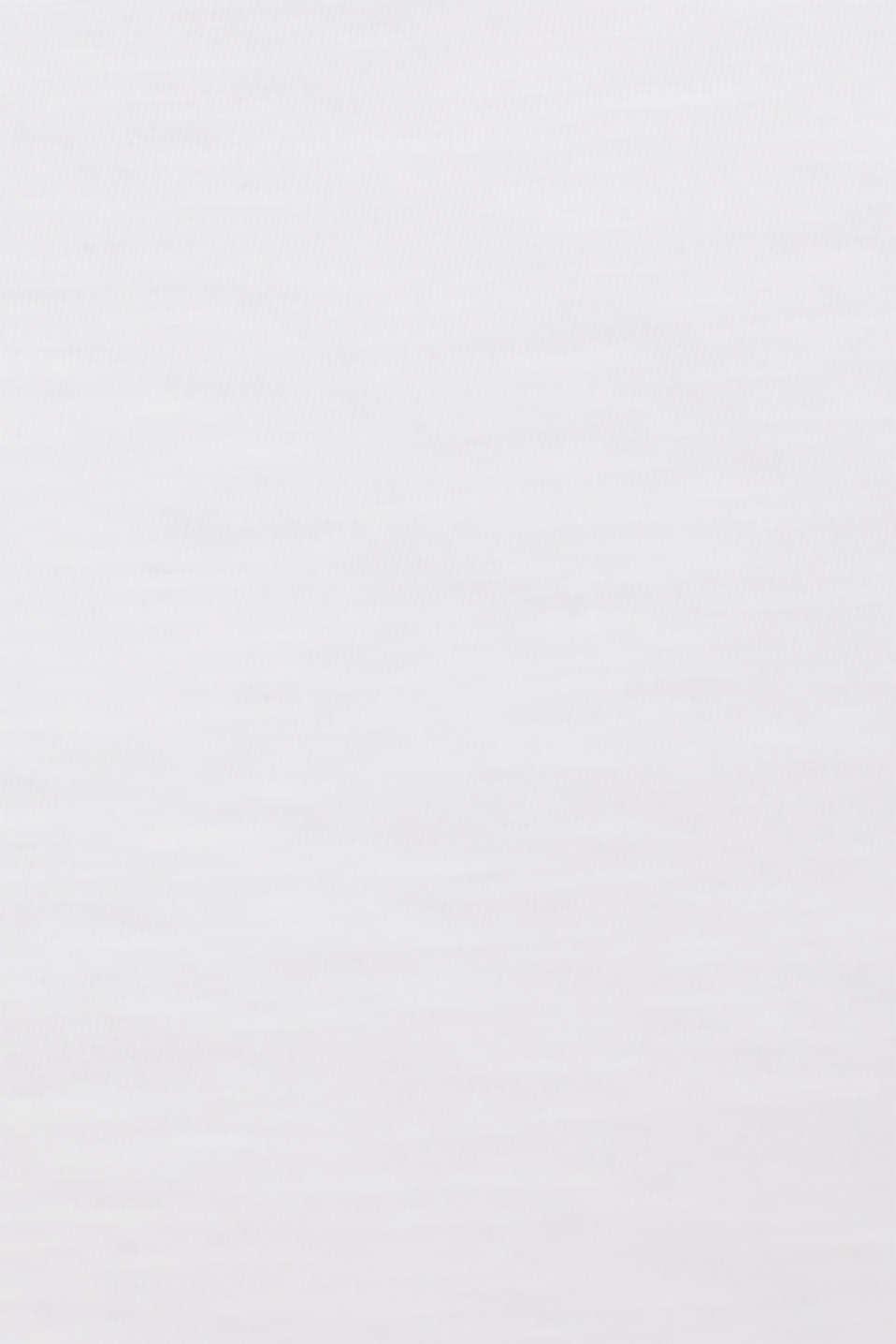 Slub top with bow detail shoulder straps, 100% cotton, WHITE, detail image number 3