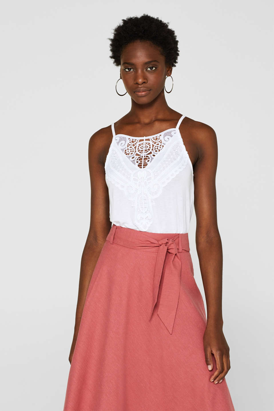 Esprit - Flared top trimmed with crocheted lace