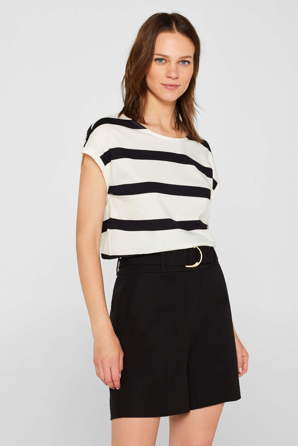 Esprit - Top with a sophisticated back, 100% cotton