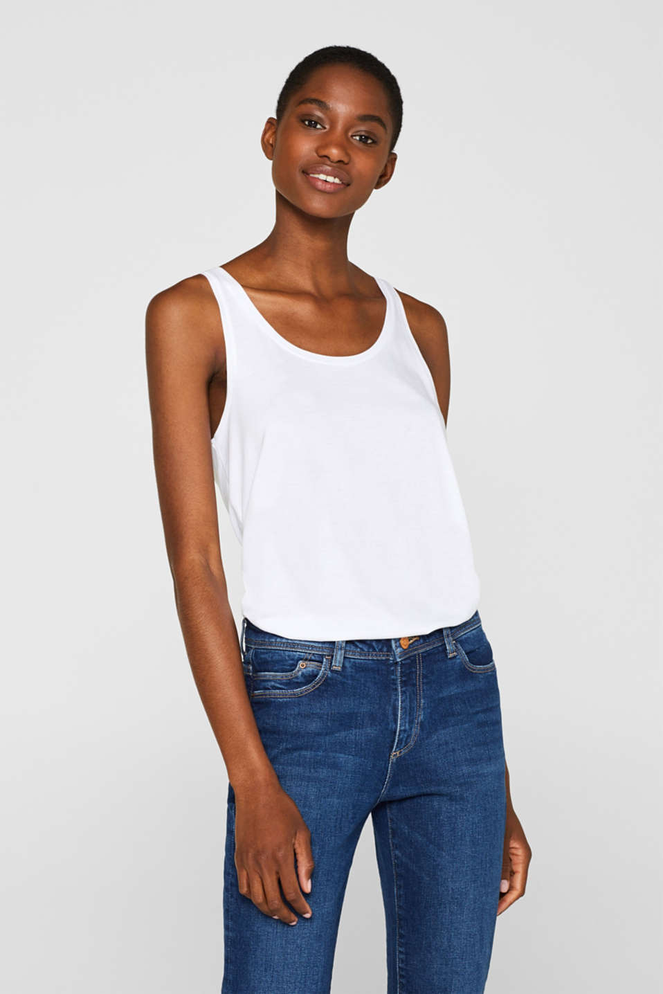 Esprit - Double pack of organic cotton tops