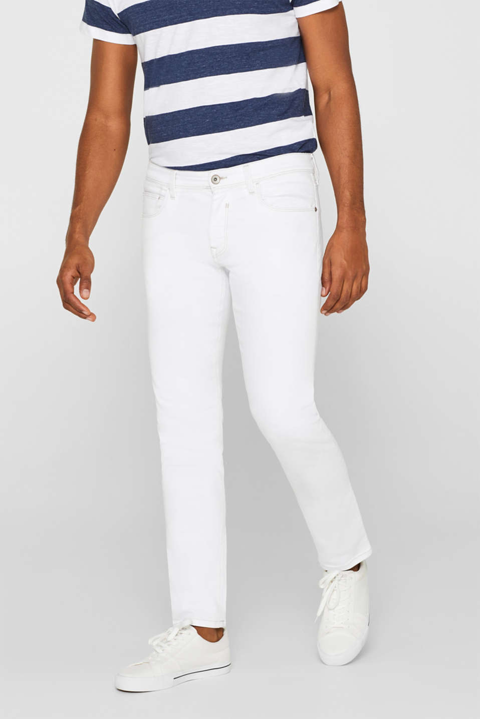 Esprit - Stretch jeans containing organic cotton