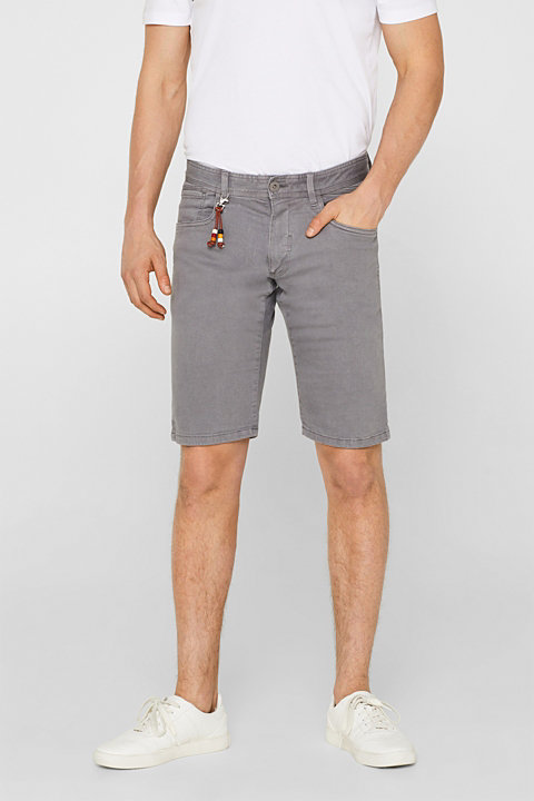 Twill shorts in blended cotton with stretch