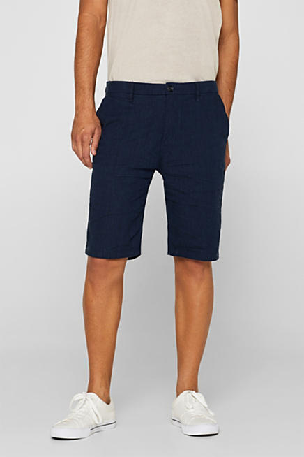 32bdfc134d Linen blend: shorts with stretch for comfort