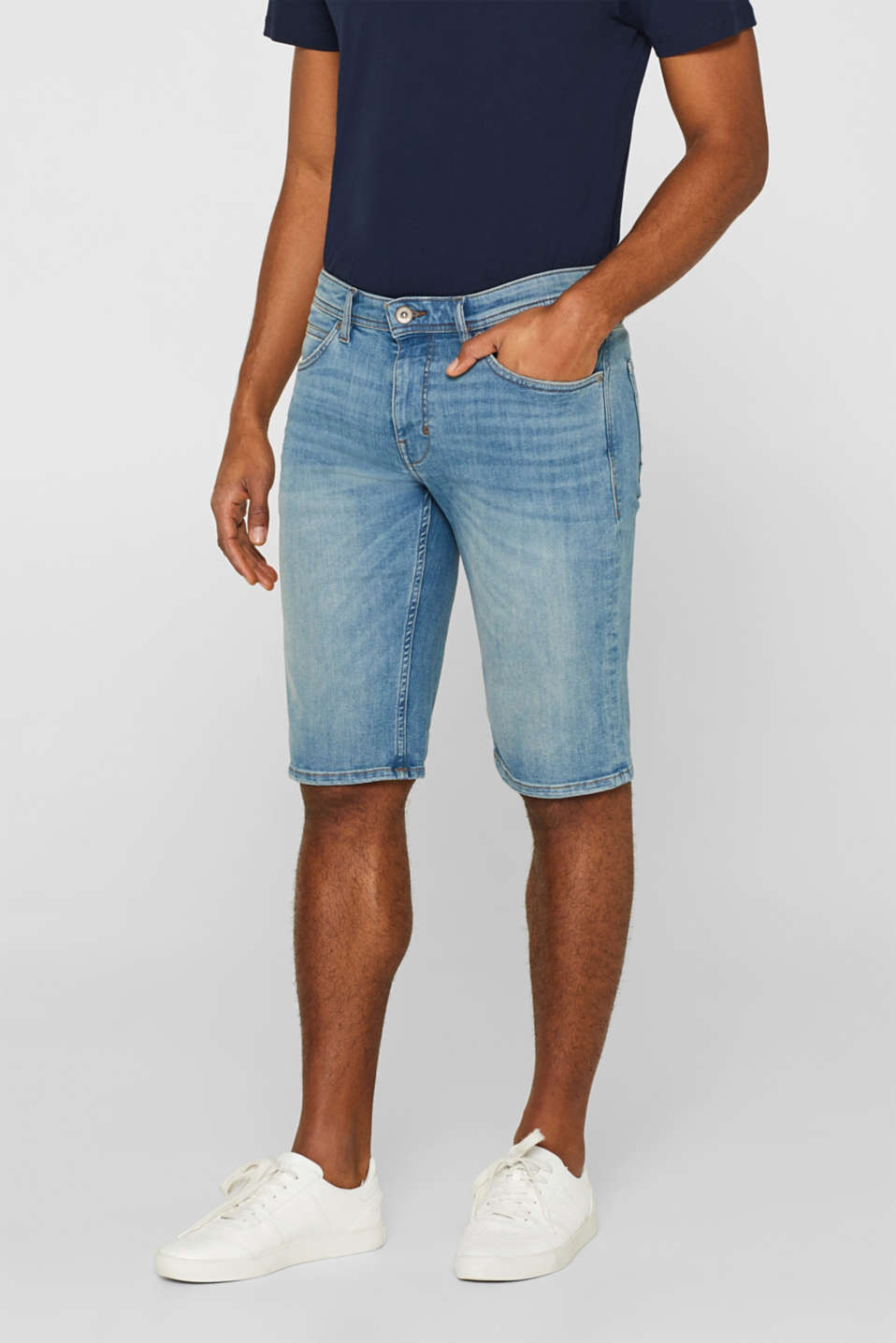 Esprit - Short en Dynamic Denim au confort super stretch