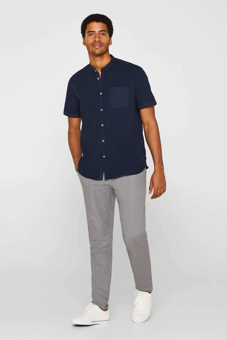 Shirts woven Regular fit, NAVY, detail image number 5