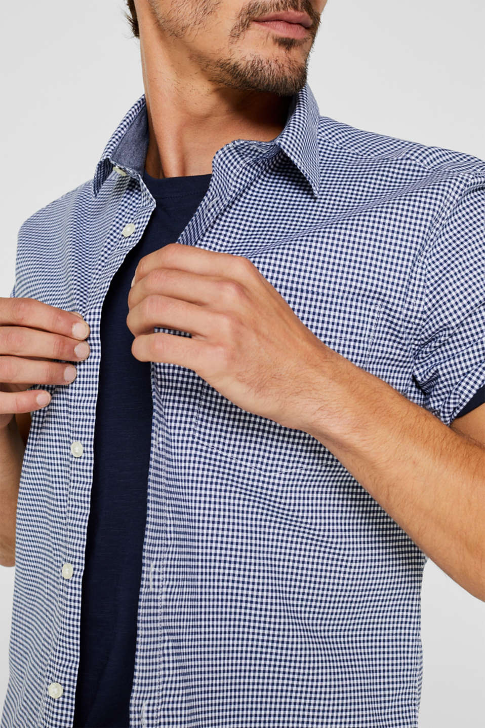 Shirts woven Slim fit, DARK BLUE, detail image number 2