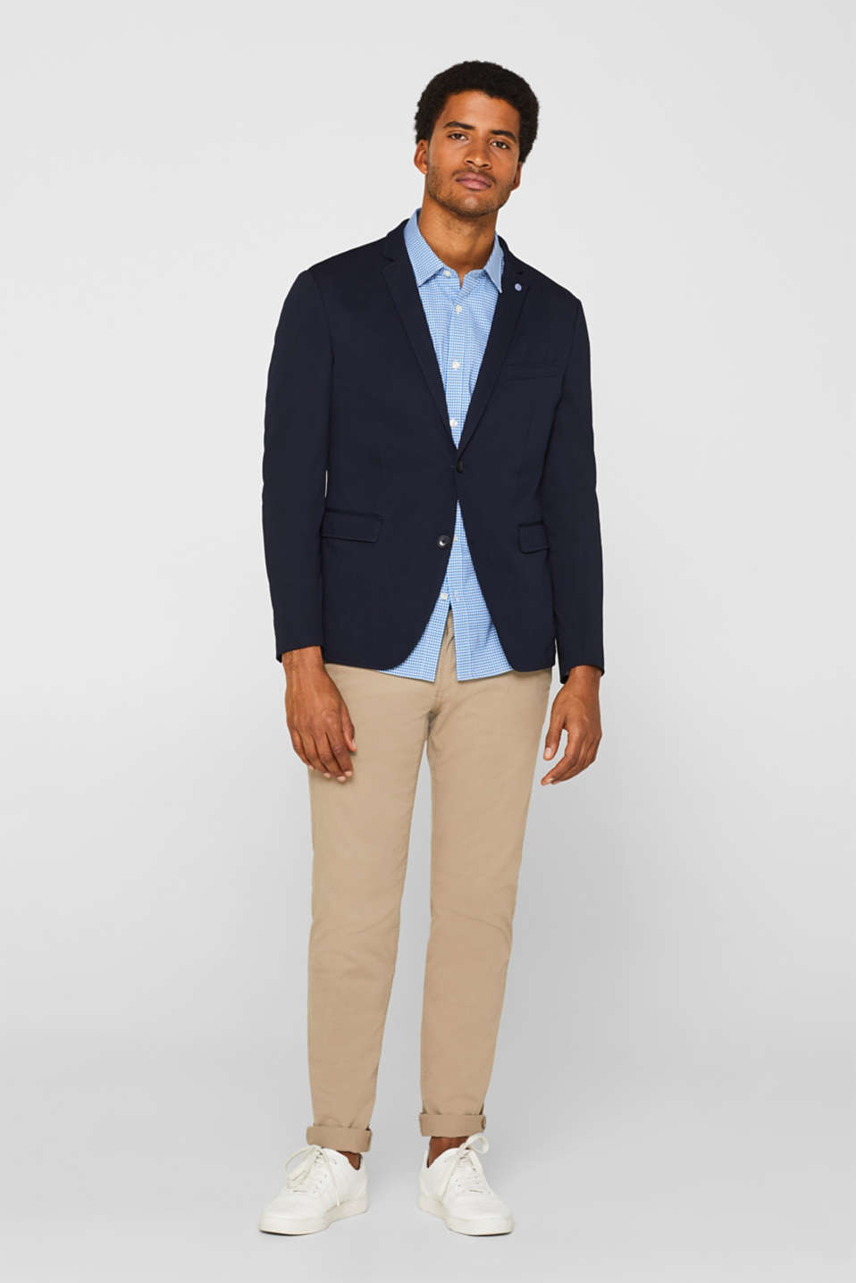 Shirts woven Slim fit, LIGHT BLUE, detail image number 1