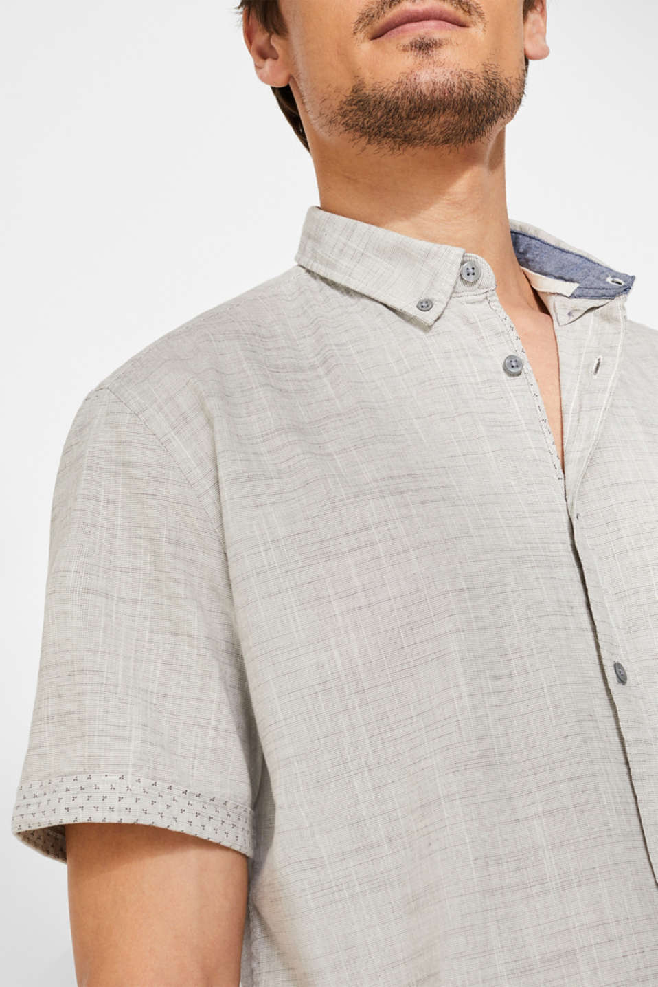 Shirts woven Slim fit, LIGHT GREY, detail image number 2