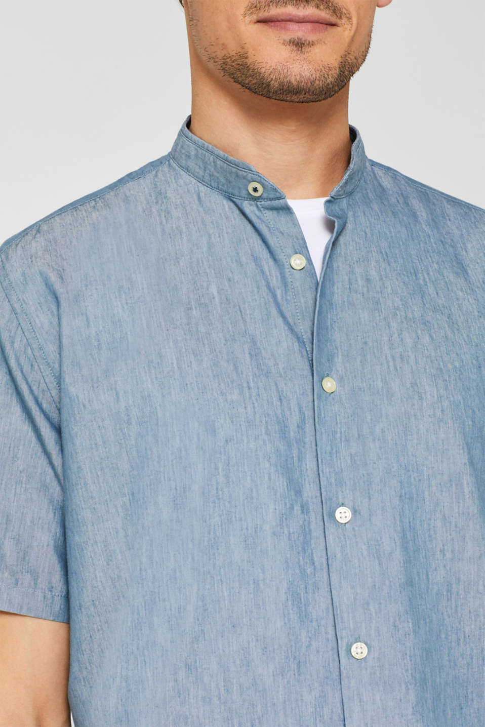Shirts woven Slim fit, PETROL BLUE, detail image number 2
