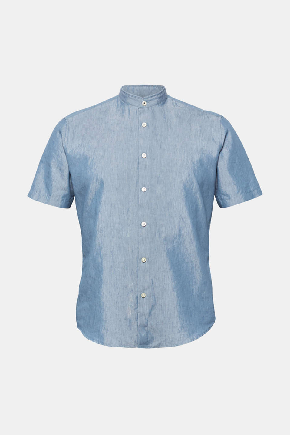Shirts woven Slim fit, PETROL BLUE, detail image number 6