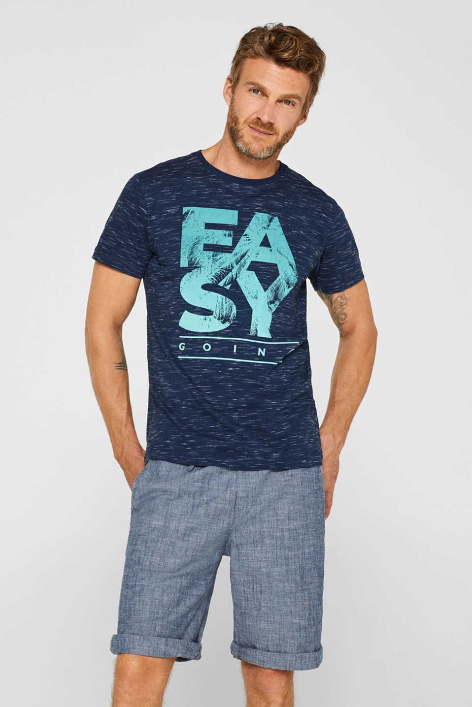 Esprit - Jersey T-shirt with a statement print