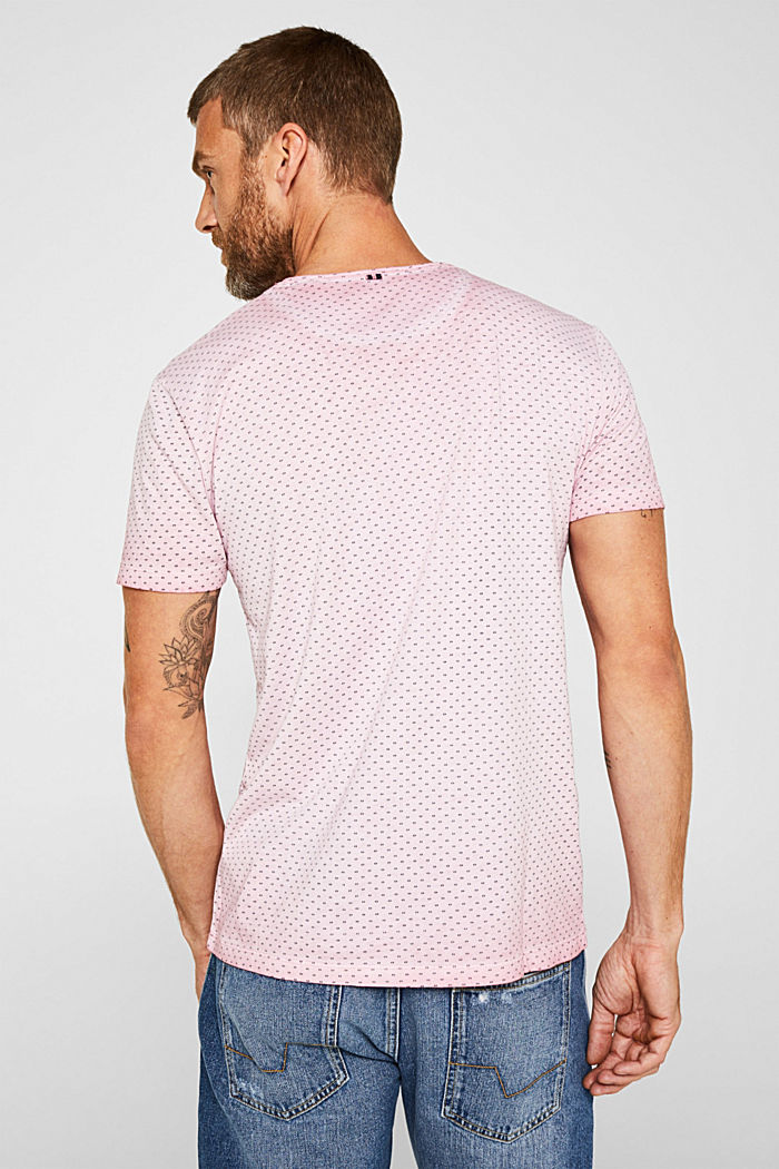 Jersey T-shirt with a micro print, 100% cotton, BLUSH, detail image number 3