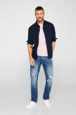 Jersey T-shirt with a micro print, 100% cotton, BLUSH, detail