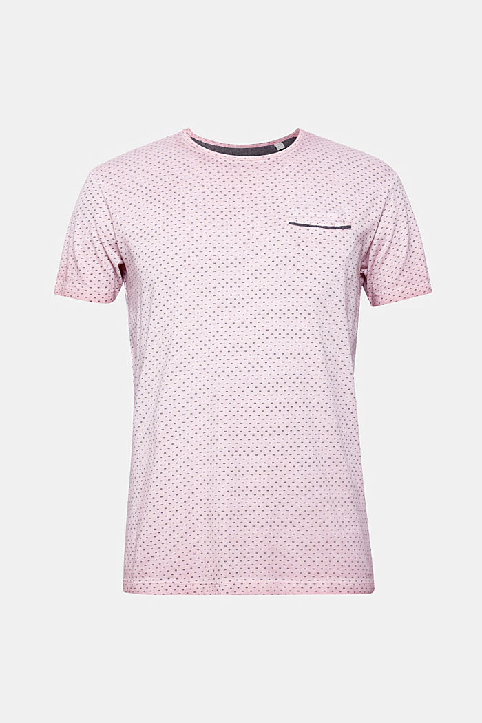 Jersey T-shirt with a micro print, 100% cotton