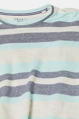 Piqué T-shirt with stripes, OFF WHITE, detail