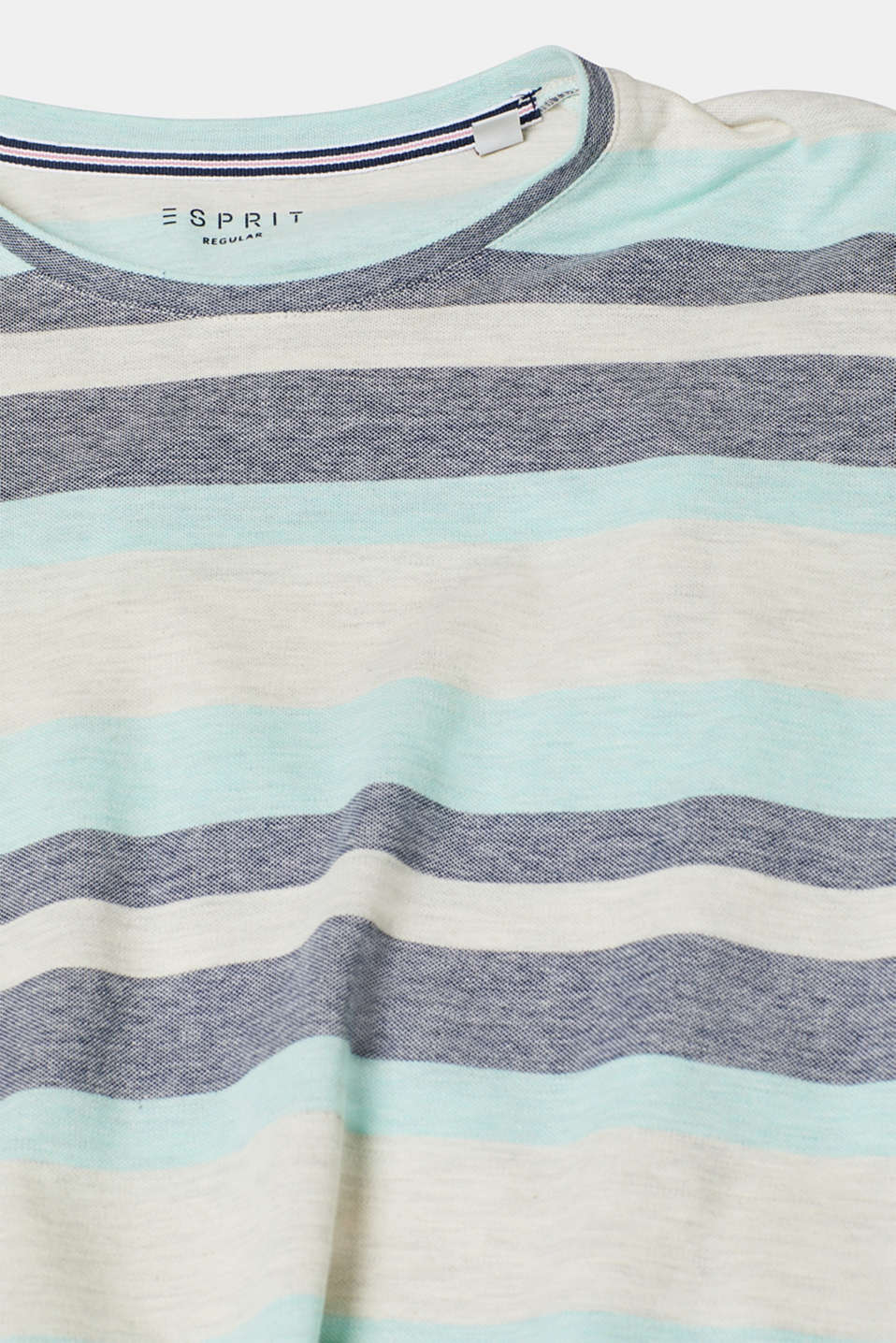 Piqué T-shirt with stripes, OFF WHITE, detail image number 4
