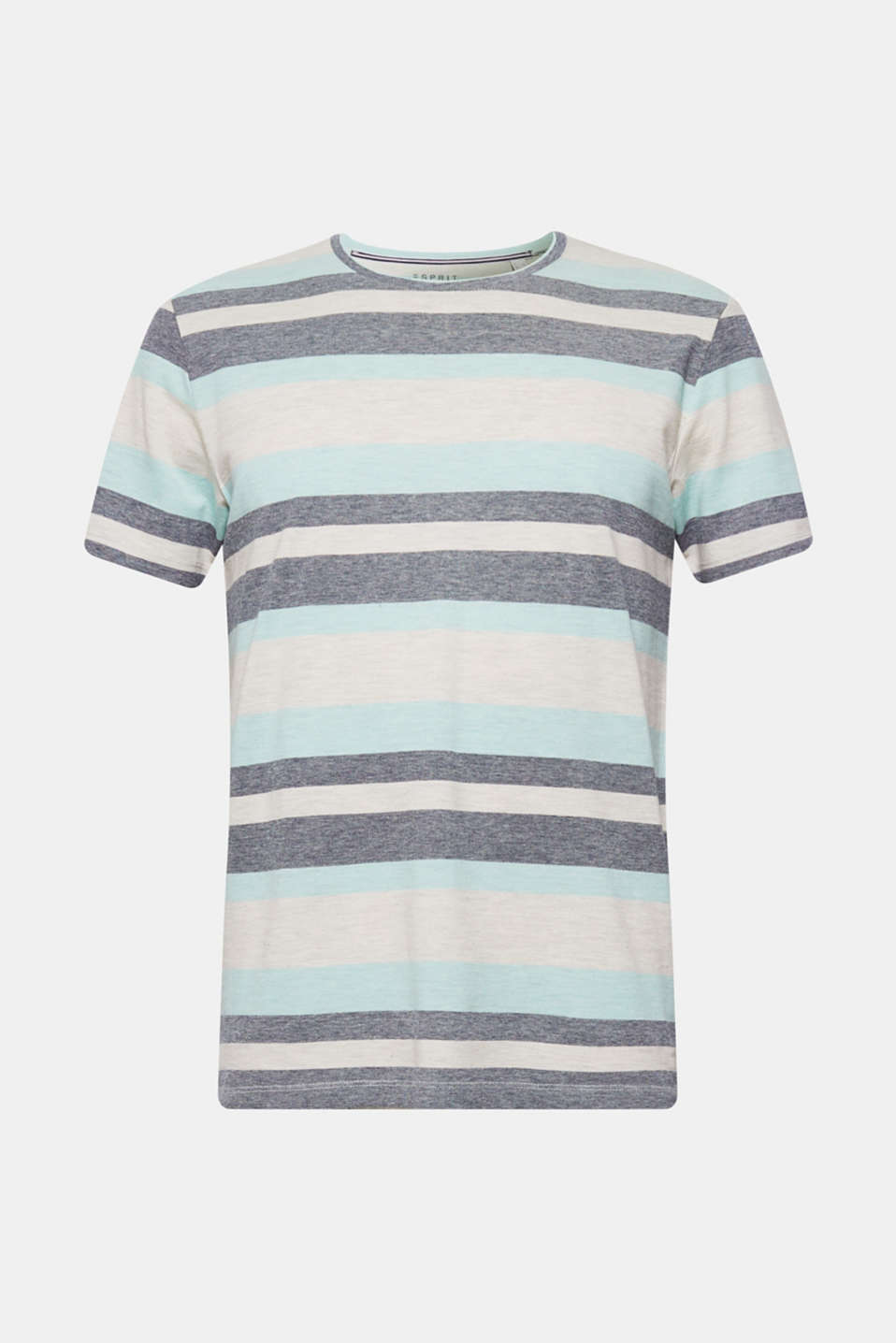 Piqué T-shirt with stripes, OFF WHITE, detail image number 6