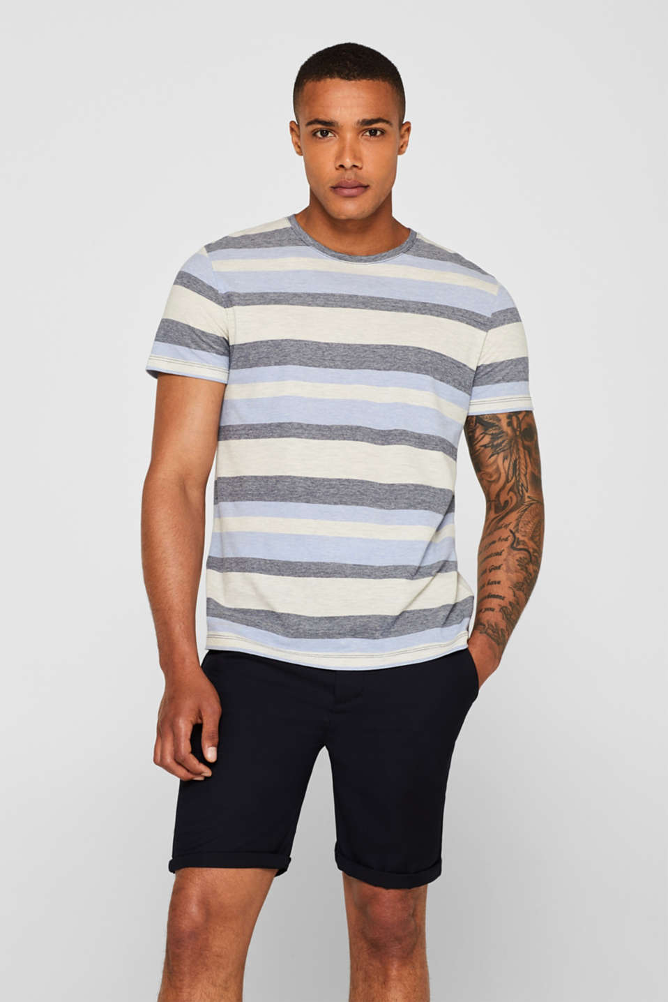 Esprit - Piqué T-shirt with stripes