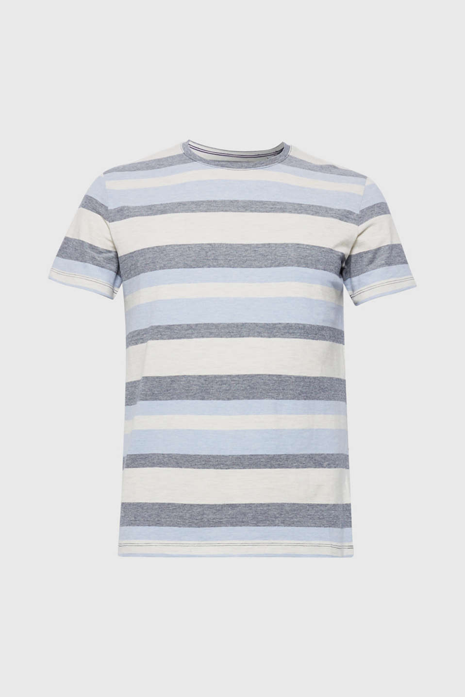 Piqué T-shirt with stripes, NAVY, detail image number 6